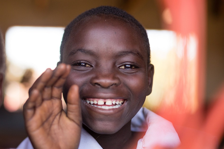 Smiling child in Malawi